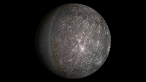 Animation Of Mercury Planet In Rotation Motion Background