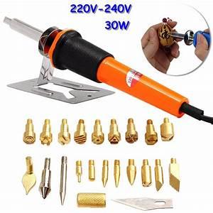 7pcs, Profesional, Electric, Soldering, Iron, Pyrography, Pen, Kit, Wood, Burning, Tool, Set, With, Brass
