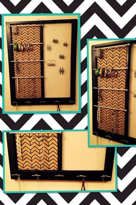 jewelry organizer  multi colored chevron