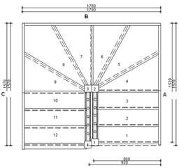 Staircase Floor Plan by Left Winder Staircase U Shaped Stair Design