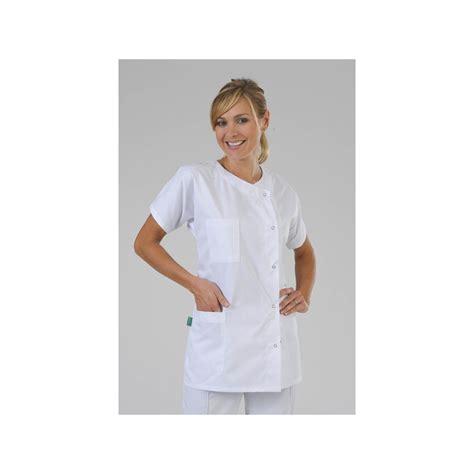 vetement de cuisine professionnel pas cher tunique médicale classique 1 poche poitrine et une seule poche basse label blouse