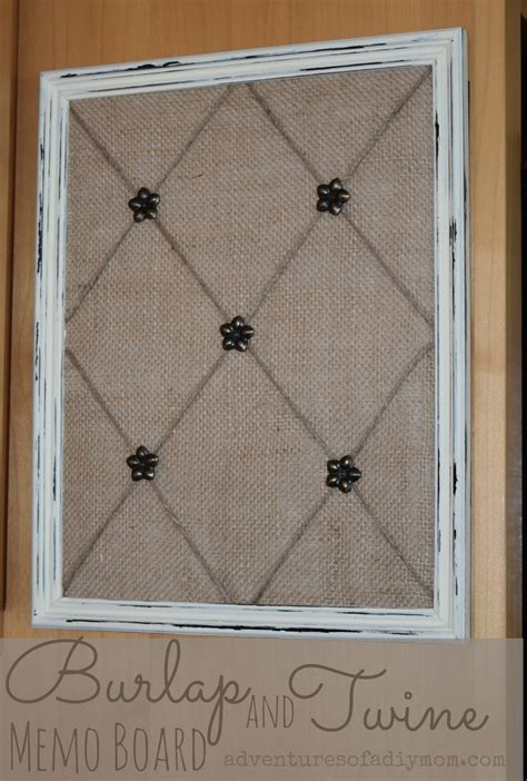 Meme Boards - how to make a burlap and twine memo board adventures of a diy mom