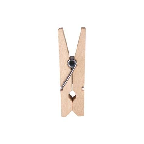mini pince en bois couleur 2 5 cm les 24