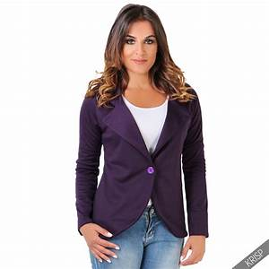 KRISP Womens Slim Fit Casual Smart Jersey Blazer Ladies ...