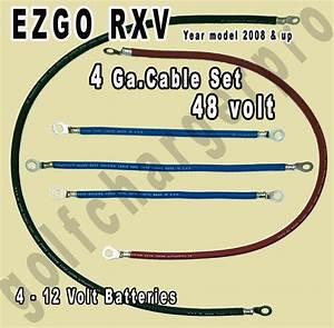 Ezgo Rxv Golf Cart 48 Volt 4 Gauge Heavy Duty Battery Cable Wiring Set