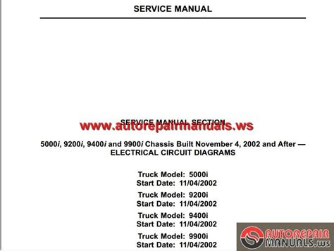 international truck iii   chassis built electrical circuit diagram auto