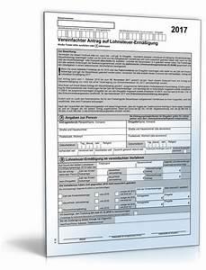 Lohnsteuer 2017 Berechnen : vereinfachter antrag auf lohnsteuer erm igung 2017 formular zum download ~ Themetempest.com Abrechnung