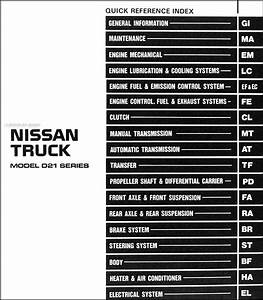 1986 5 Nissan Hardbody Truck Repair Shop Manual Original D21