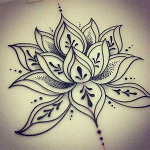 simple lotus design | Favorites | Pinterest | Lotus tattoo ...