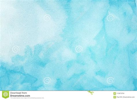 Abstract Light Blue Watercolor Background Painted On