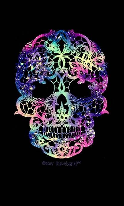 Skull Girly Wallpapers Galaxy Skulls Sugar Backgrounds
