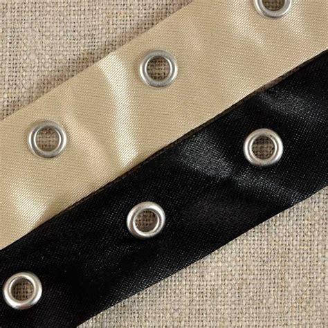 bande d oeillets pour rideaux bande 224 œillets bustier satin beige ou noir a a patrons