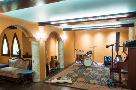 Adding all this in your bedroom will surely perk up the look of your bedroom. Moroccan Themed Music Room: A Basement Remodel - Mediterranean - Basement - Providence - by ...