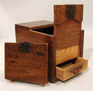 Secret Compartments in Wooden Japanese Merchant's Chest