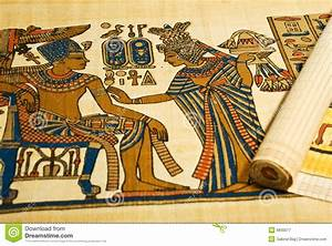Ancient Scroll Designs Egyptian Drawings On Scroll Royalty Free Stock Photography