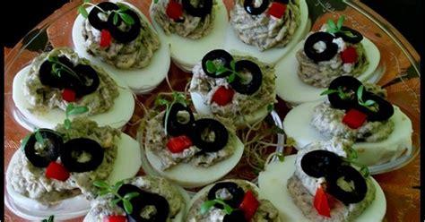 jajka farsz pieczarkami faszerowane nadziewane zapisano pieczarkowy
