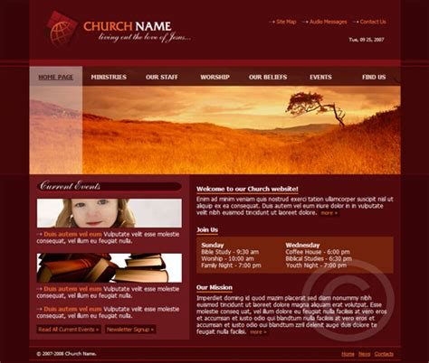 free church website templates 9 best photos of microsoft web page template sle wedding website template free church