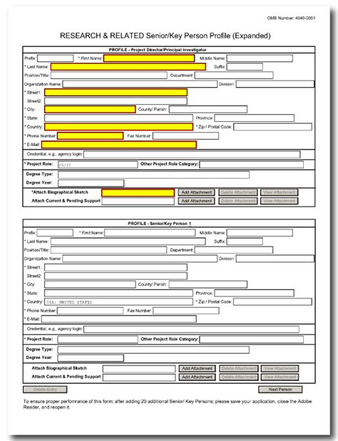 g 4 form how to fill out g 240 r r senior key person profile expanded form
