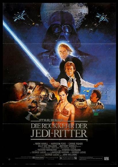 Jedi Return 1983 Wars German Poster Movie
