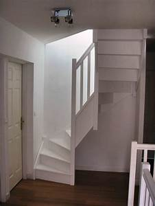 Escalier En U : escalier bois rampe bois ~ Farleysfitness.com Idées de Décoration