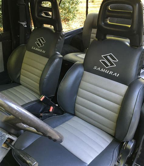 Suzuki Samurai Seat Covers 1986 1995 suzuki samurai front rear seats covers ebay