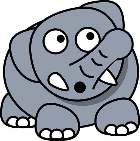 elephant cartoon worried  vector graphic  pixabay