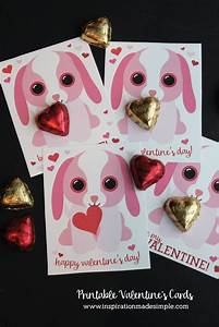 Printable Puppy Valentine's Day Cards - Inspiration Made ...
