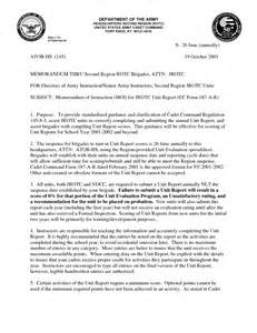 Army Memorandum Format Example