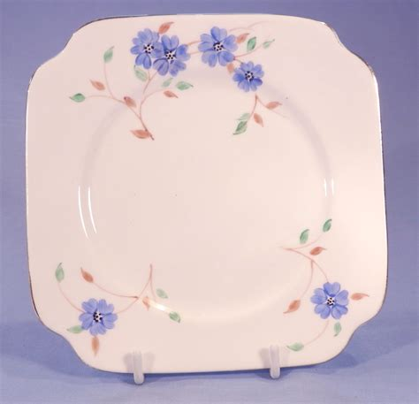 bell china hand painted blue flowers vintage bone china