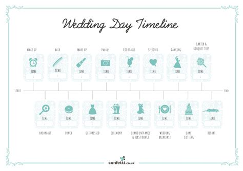 wedding day timeline template wedding day timeline free printable guide confetti co uk