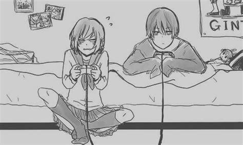 anime couple playing video games video games couple gif wifflegif