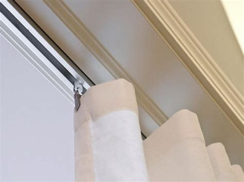 ceiling mounted curtain rail on ikea gliders