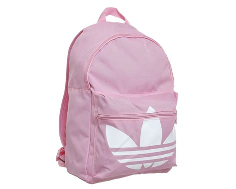 retro modern style adidas trefoil backpack light pink white accessories