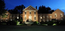 Front View at Night of the Teackle Mansion | Mansions ...