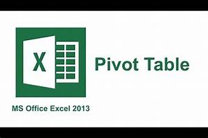 Workshop  Excel 2013 U2014data Analysis With Pivot Tables