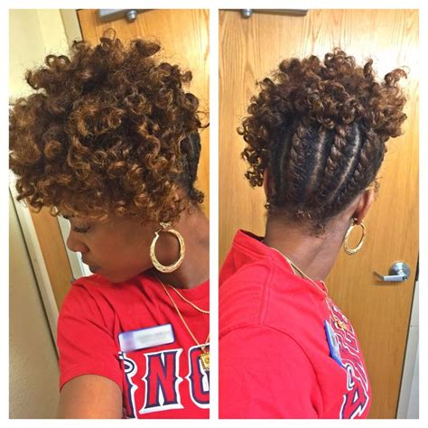 flat twist updo tutorial natural hair hairstyle for