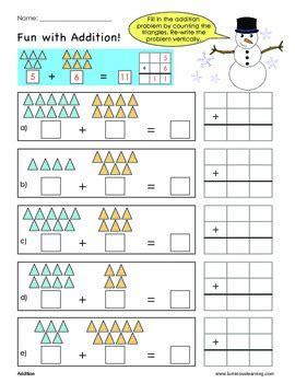 grade  addition sample worksheet making math visual