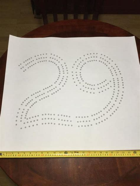 large  cribbage board hole pattern paper template etsy