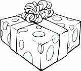 Outline Gift Clip Clipart Vector Clker sketch template