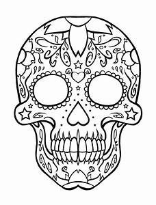 Sugar Skull Coloring Page - AZ Coloring Pages