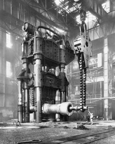 factory essen rdmironworks forging press in the krupp factory essen