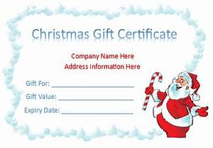 holiday gift certificate template free printable - free gift certificate templates 8 templates