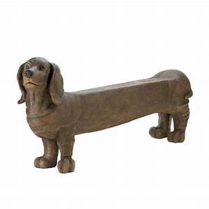Dachshund doggy bench wholesale at koehler home decor for Dachshund bench