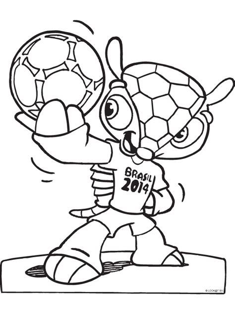 Kleurplaat WK 2014 mascotte - Kleurplaten.nl