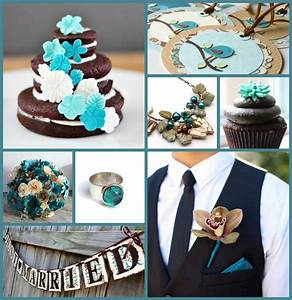 Teal and Brown Wedding | Green Bride Guide | Teal wedding ...