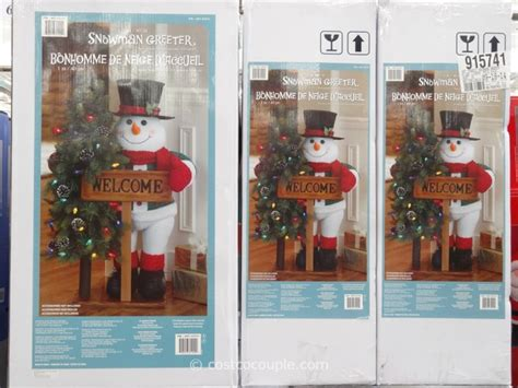 40-inch Fabric Snowman Greeter