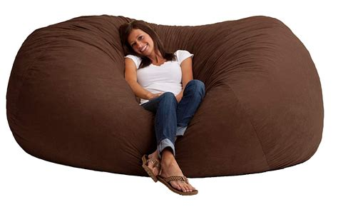 Bean Bag Loveseat by Chair Sofa Oversized Furniture Recline Comfort Seat Lounge