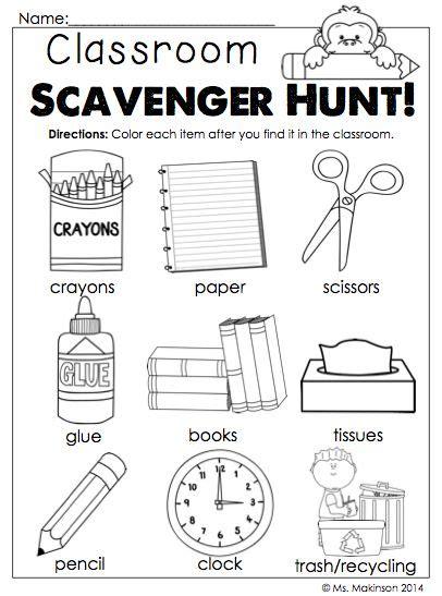 25 best ideas about classroom scavenger hunt on pinterest