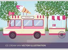 Ice Cream Van Vector Illustration Download Free Vector