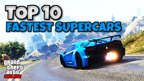 Top 10 Fastest Upgraded Supercars Around A Track In Gta